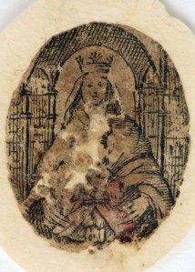 Santa Reliquia de la Virgen de Coromoto después de su blanqueamiento